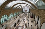 Main hall of the d'Orsay Museum in Paris, housed in a former railway station